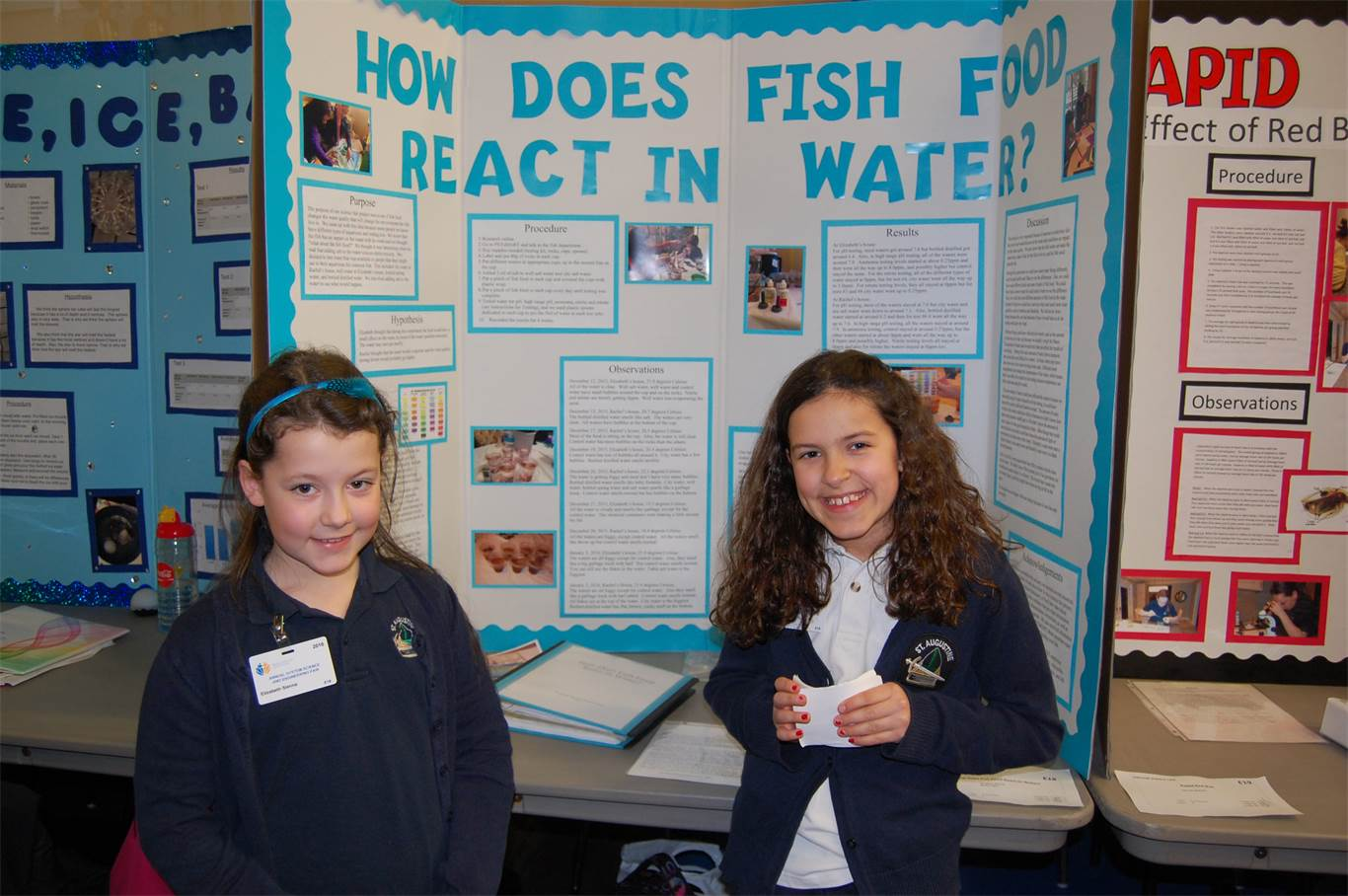 Students dabble in science at annual system science fair for Fishing science fair projects